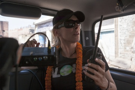Kathryn Bigelow on the set of 'Zero Dark Thirty'