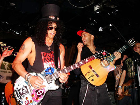 Slash and Tom, making it right.