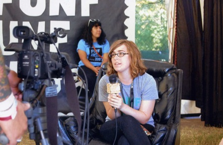 Yours truly conducting interviews at Fun Fun Fun Fest 2010.