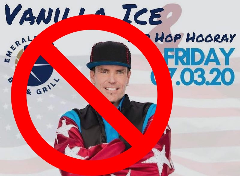 Coronavirus concerns freeze Vanilla Ice show
