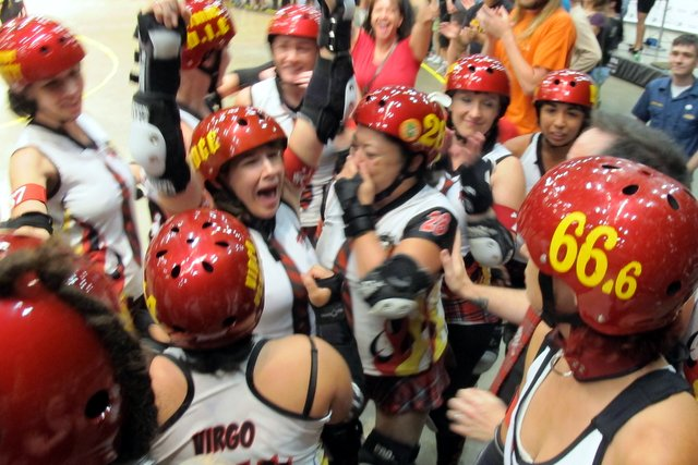 How sweet it is: The Hell Marys take the gold in our number one Flat Track Roller Derby story for 2012