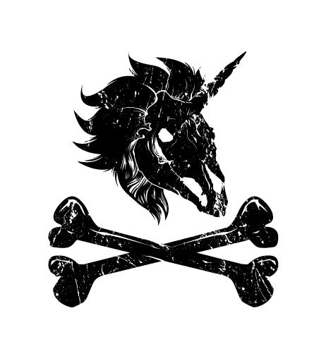 The uni-skull and crossbones of Booty's