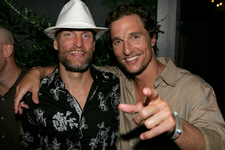 Woody Harrelson and Matthew McConaughey at the AFS premiere of Surfer, .