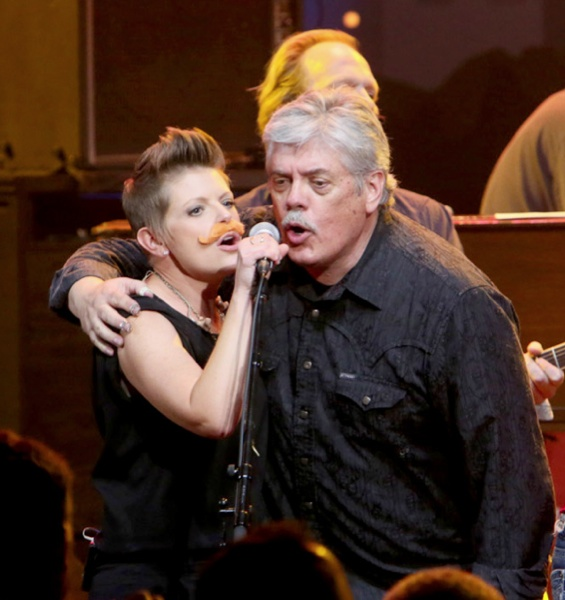 Like father like daughter: Lloyd and Natalie Maines at the Moody Theater, 5.16.13