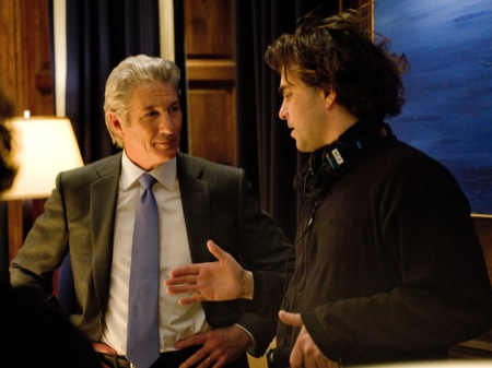 Richard Gere on the set of Arbitrage with Nicholas Jarecki