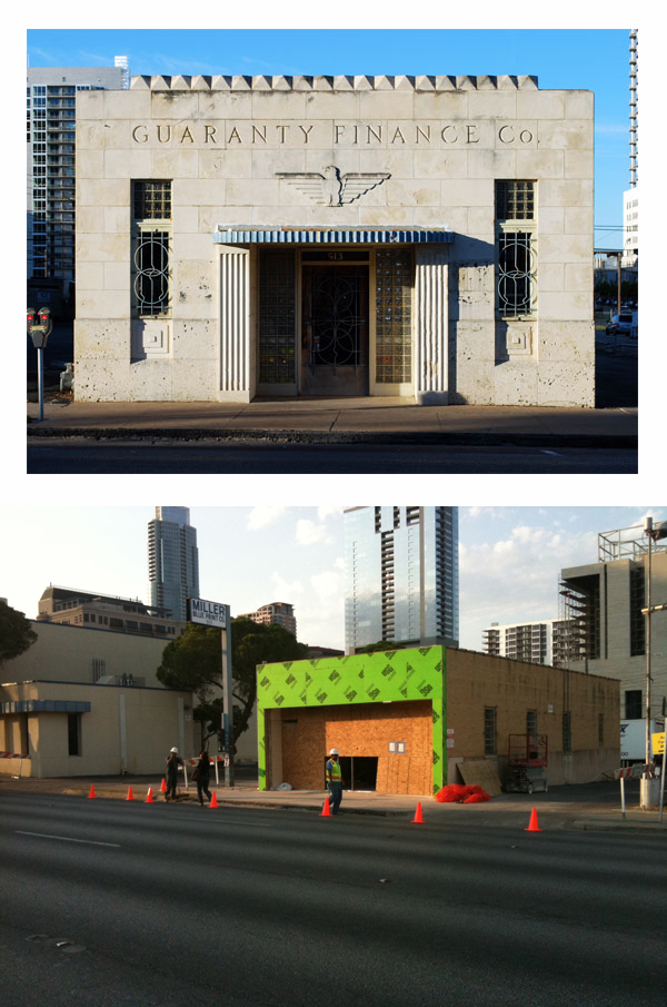 History Removed Artdeco facade disappears from 1940
