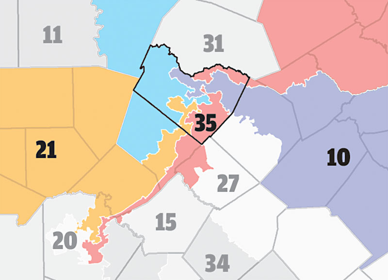 The Texas Hammer Gerrymandering Fragmenting Progressive
