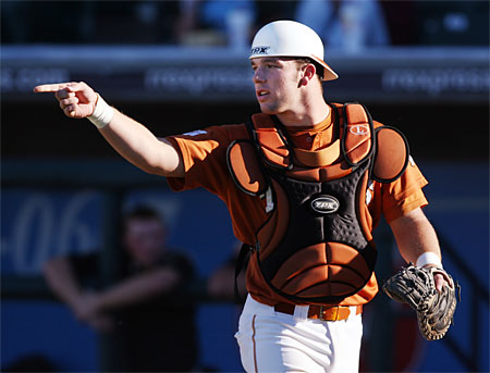 Cameron Rupp tallied four RBIs as Texas cruised to a 12-7 win in the Big 12 Tournament Championship. (Austin Chronicle Photo)