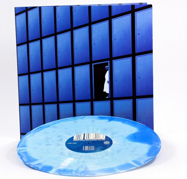 The exclusive limited edition Blkue Iris version of the Blue Sunshine soundtrack from Mondo, with gatefold artwork by Jay Shaw