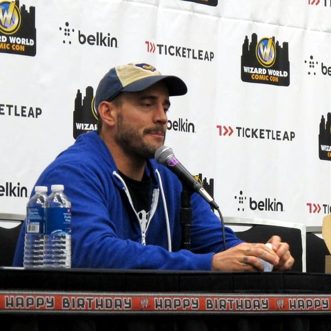 Best in the world and self-confessed lovable jerk CM Punk at Wizard World Austin Comic-Con