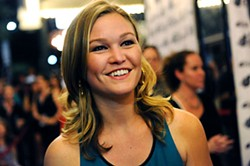 Julia Stiles was among those who gathered Saturday night at the Paramount for the Texas premiere of Berger's doomsday romantic-comedy <i>It's a Disaster</i>. For more of the <i>Chronicle</i>'s coverage of the 2012 Austin Film Festival, see <a href=http://austinchronicle.com/austin-film-festival>austinchronicle.com/austin-film-festival</a>.
