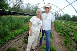 Carol Ann Sayle and Larry Butler at Boggy Creek Farm