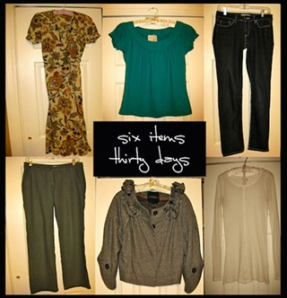 Adventures in Fashion: Six Items or Less