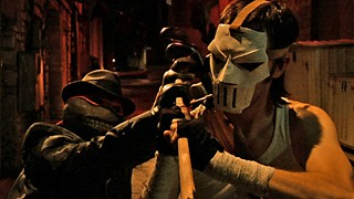 Polaris Banks' live-action tribute to the Teenage Mutant Ninja Turtles' human sidekick, Casey Jones, was filmed on the sly in Downtown Austin.