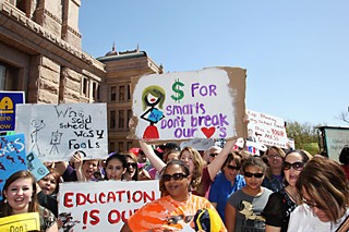 Last year's Save Texas Schools rally drew more than 11,000 people.