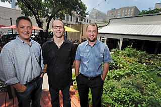 Hickory Street owners Brendan Puthoff (l), Mason Wheeless, and Nate Howry