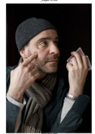 David Rakoff in a production still from the set of 2010's