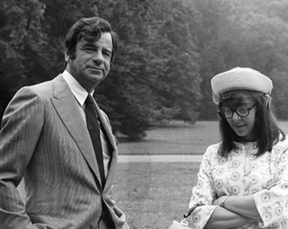 Walter Matthau with his director and co-star Elaine May