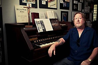 Michael Corcoran at the Texas Music Museum Wednesday.