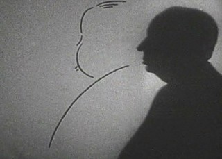 The iconic silhouette from TV show Alfred Hitchcock Presents