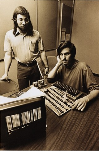 Apple cofounders Steve Wozniak and Steve Jobs
