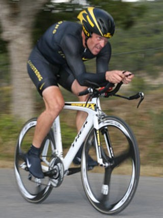 Lance Armstrong seen here taking part in the 2008 Tour de Gruene