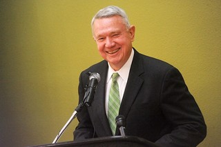 Mayor Lee Leffingwell at the M Station dedication in 2011