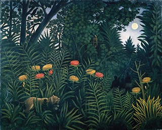 <i>Exotic Landscape With Tiger and Hunters</i>, by Henri Rousseau, Private Collection