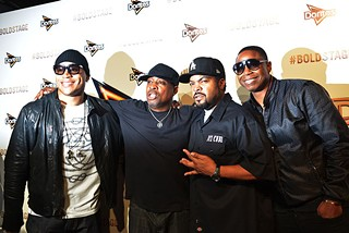 LL Cool J, Chuck D, Ice Cube, and Doug E. Fresh