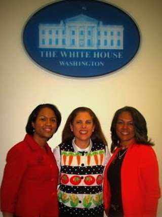 Toni Tipton-Martin (right) in Washington, D.C. with Tambra Raye Stevenson (left) and Dr. Marjorie Freedman