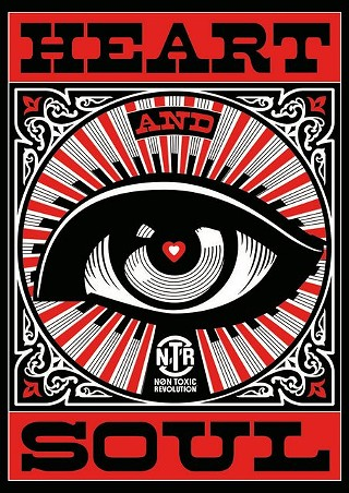 One of the image's from Shepard Fairey's