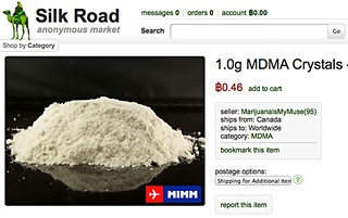 The agony and the Ecstasy: A screenshot from the Silk Road website