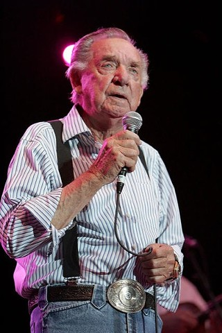 Ray Price performing to a sold-out crowd during Willie Nelson's Fourth of July Picnic at the Backyard, 2010