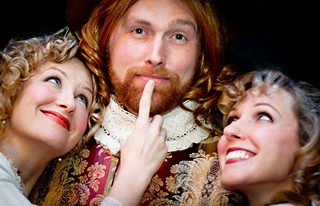 Would I lie to you honey?: (l-r) Hildreth England, Benjamin Summers, and Lara Toner