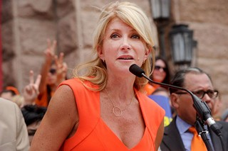 Wendy Davis: Apparently Greg Abbott has worked out what party she's in.