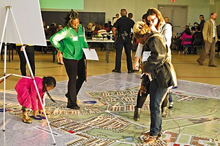 Residents explore the proposed master plan.