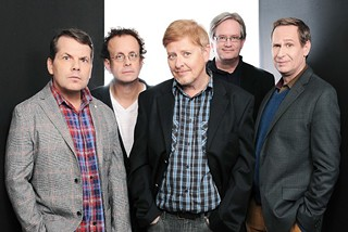 Those Kids today: (l-r) Bruce McCulloch, Kevin McDonald, Dave Foley, Mark McKinney, and Scott Thompson