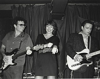 Texas triangle: O'Brien, Lou Ann Barton, and Jimmie Vaughan at Antone's circa mid-Eighties