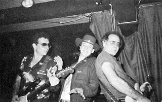 Triple threat: (l-r) O'Brien, Stevie Ray Vaughan, and Denny Freeman