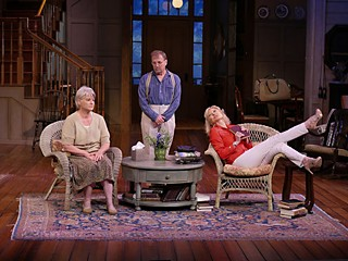 The Chary Orchard: (l-r) Lauren Lane's Sonia, Jaston Williams' Vanya, and Beth Broderick's Masha