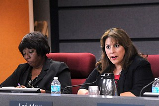 No re-election bids for Trustees Cheryl Bradley (l), Lori Moya, or Board President Vince Torres (below)