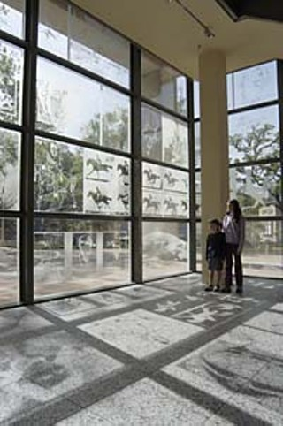 Ransom Center southeast corner interior