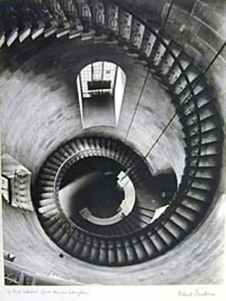 <i>St. Paul's Cathedral, spiral staircase looking down, </i>by Helmut Gernsheim, 1939