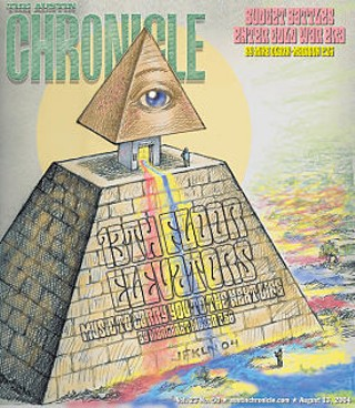 Austin Chronicle cover, August 2004. Artwork by Jim Franklin.