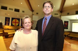 Babs Miller and the Rev. James Rigby