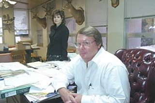 Angelina Co. District Attorney Clyde Herrington (r) and Assistant District Attorney Janet Cassels