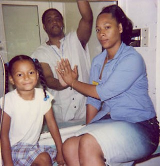 Kenneth Foster with his girlfriend, Nicole Johnson, 