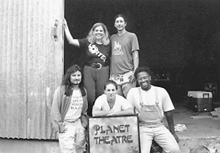 Cullum with members of Vortex Repertory Company 