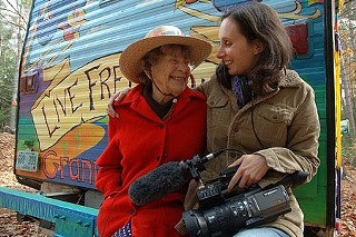 Political reform activist Doris Granny D Haddock and filmmaker Marlo Poras, director of <i>Run Granny Run</i>