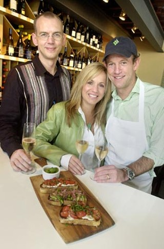 (L-r) Manager Matt Berendt and co-owners Beth Selbe Lasita and Reed Clemons